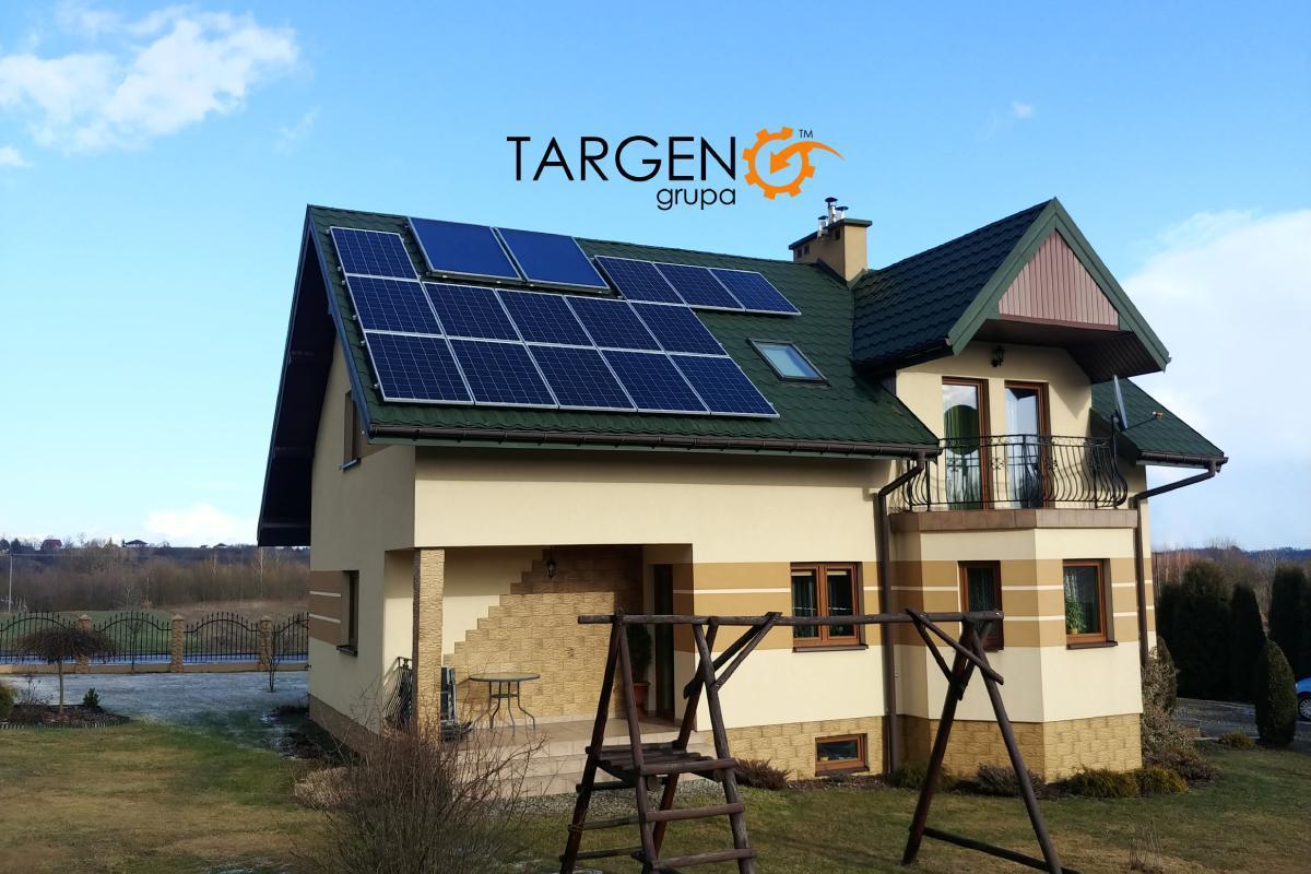 Instalacja fotowoltaiczna 3,99kWp, Moduły: 14 x EXE Solar 285Wp, Falownik: SolarEdge SE4K