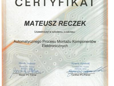 Certyfikat Targen Renex Eec