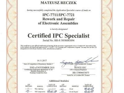 Certyfikat Targen - specjalista IPC