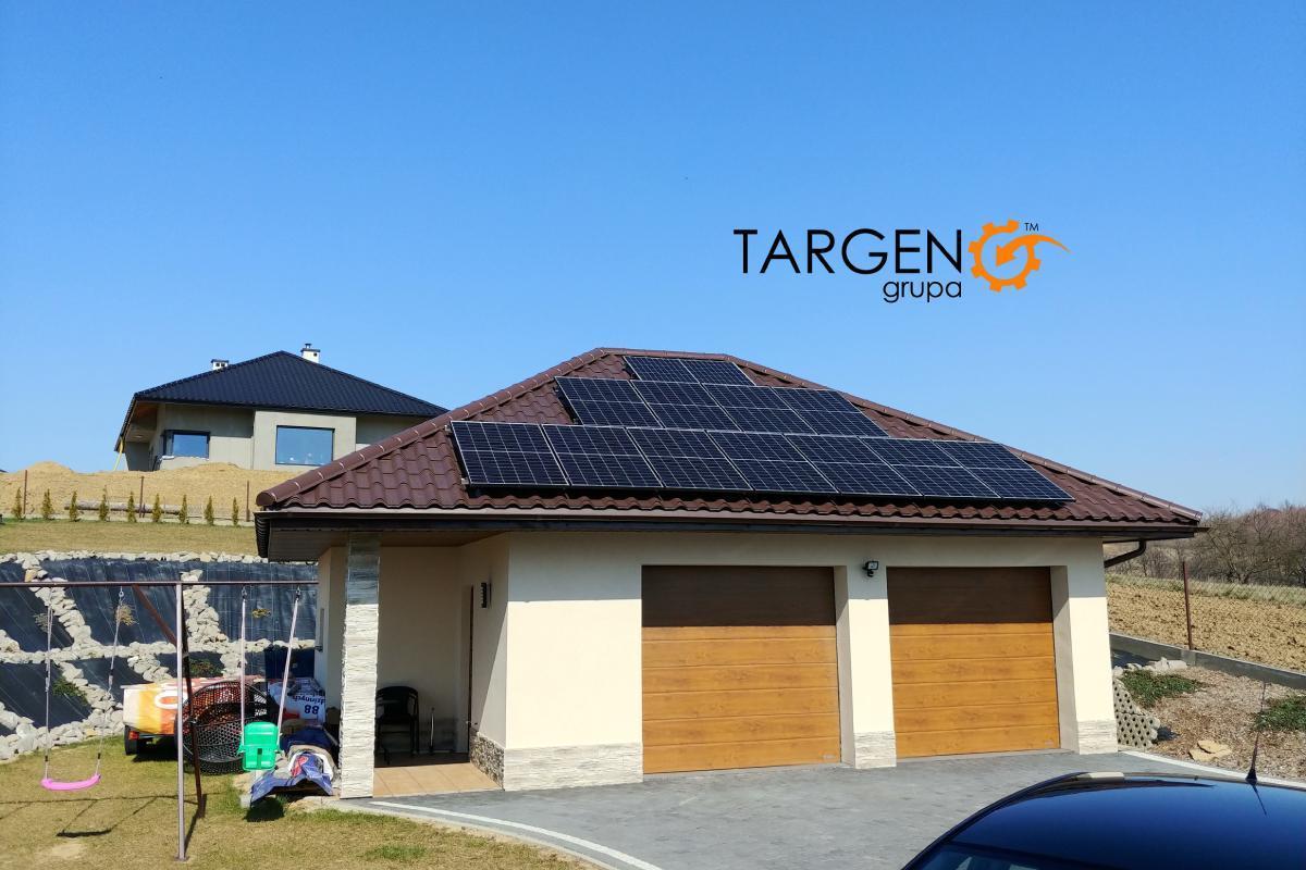 Instalacja fotowoltaiczna 4,62kWp, Moduły: 14 x Risen 330Wp, Falownik: SolarEdge SE4K